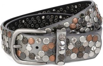styleBREAKER studded belt with various studs and rhinestones in a vintage design, 03010051 – Bild 41