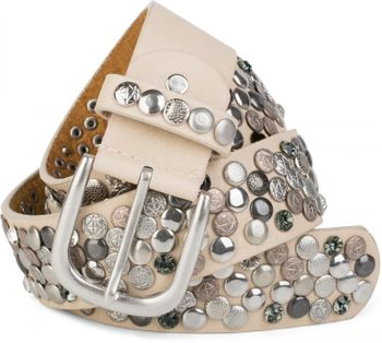 styleBREAKER studded belt with various studs and rhinestones in a vintage design, 03010051 – Bild 43