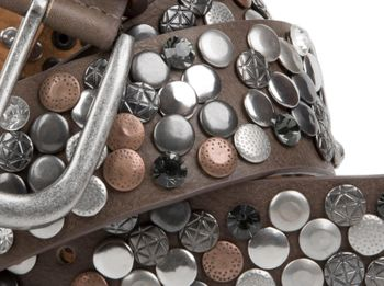 styleBREAKER studded belt with various studs and rhinestones in a vintage design, 03010051 – Bild 8