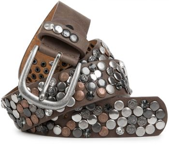 styleBREAKER studded belt with various studs and rhinestones in a vintage design, 03010051 – Bild 7