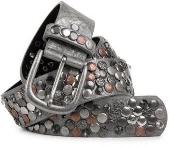 styleBREAKER studded belt with various studs and rhinestones in a vintage design, 03010051 – Bild 1