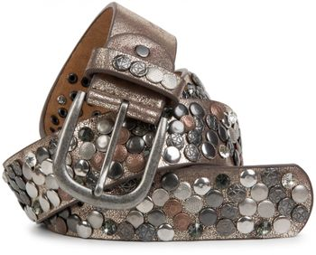 styleBREAKER studded belt with various studs and rhinestones in a vintage design, 03010051 – Bild 13