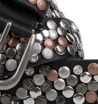 styleBREAKER studded belt with various studs and rhinestones in a vintage design, 03010051 – Bild 12