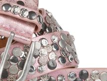 styleBREAKER studded belt with various studs and rhinestones in a vintage design, 03010051 – Bild 22