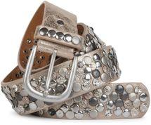 styleBREAKER Nietengürtel im Vintage Design, verschiedenen Nieten und Strass, kürzbar, Damen 03010051 – Bild 19