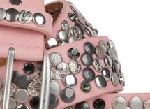 styleBREAKER studded belt with various studs and rhinestones in a vintage design, 03010051 – Bild 28