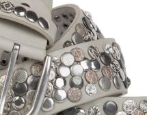 styleBREAKER studded belt with various studs and rhinestones in a vintage design, 03010051 – Bild 30