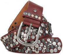 styleBREAKER studded belt with various studs and rhinestones in a vintage design, 03010051 – Bild 35