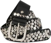 styleBREAKER studded belt with various studs and rhinestones in a vintage design, 03010051 – Bild 45