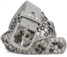 styleBREAKER studded belt with various studs and rhinestones in a vintage design, 03010051 – Bild 37