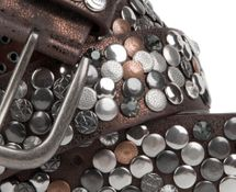 styleBREAKER studded belt with various studs and rhinestones in a vintage design, 03010051 – Bild 4