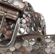 styleBREAKER studded belt with various studs and rhinestones in a vintage design, 03010051 – Bild 14