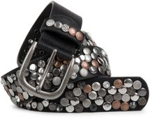 styleBREAKER studded belt with various studs and rhinestones in a vintage design, 03010051 – Bild 11
