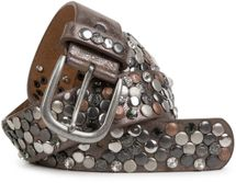styleBREAKER studded belt with various studs and rhinestones in a vintage design, 03010051 – Bild 15