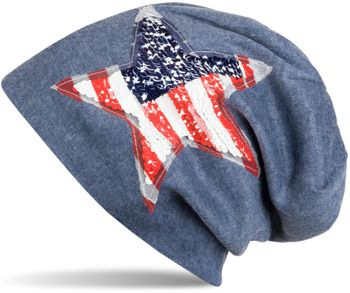 styleBREAKER Beanie Mütze mit USA Pailletten Stern Applikation, Stars and Stripes, Unisex 04024033 – Bild 7