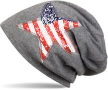 styleBREAKER Beanie Mütze mit USA Pailletten Stern Applikation, Stars and Stripes, Unisex 04024033 – Bild 5