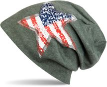 styleBREAKER beanie with USA sequins star appliqué, stars and stripes, unisex 04024033 – Bild 6