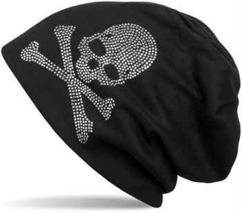 styleBREAKER classic beanie hat with skull rhinestone application, unisex 04024034 – Bild 14