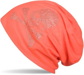 styleBREAKER classic beanie hat with skull rhinestone application, unisex 04024034 – Bild 23
