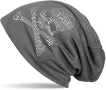 styleBREAKER classic beanie hat with skull rhinestone application, unisex 04024034 – Bild 18
