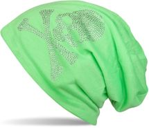 styleBREAKER classic beanie hat with skull rhinestone application, unisex 04024034 – Bild 22