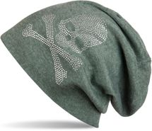 styleBREAKER classic beanie hat with skull rhinestone application, unisex 04024034 – Bild 6