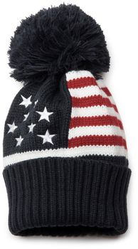 styleBREAKER's stylish knitted hat in a USA-inspired stars and stripes design. – Bild 1
