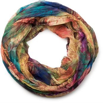 styleBREAKER foliage pattern loop tube scarf, crash and crinkle, silky and light, women 01016086 – Bild 5