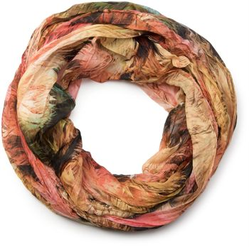 styleBREAKER foliage pattern loop tube scarf, crash and crinkle, silky and light, women 01016086 – Bild 11