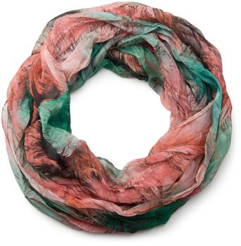 styleBREAKER foliage pattern loop tube scarf, crash and crinkle, silky and light, women 01016086 – Bild 9