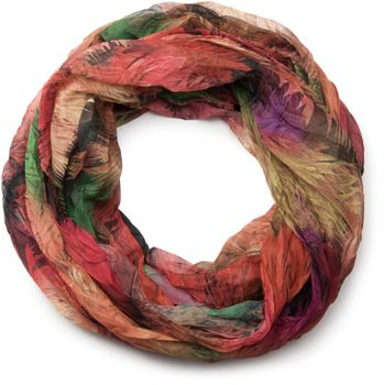 styleBREAKER foliage pattern loop tube scarf, crash and crinkle, silky and light, women 01016086 – Bild 7