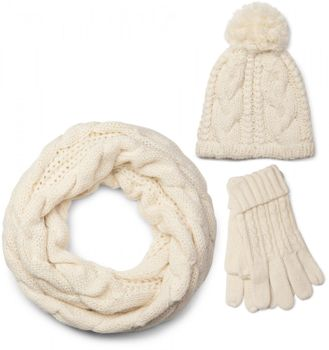 styleBREAKER scarf, cap and glove set, braid pattern knit scarf with Bobble Cap and gloves, women 01018208 – Bild 5
