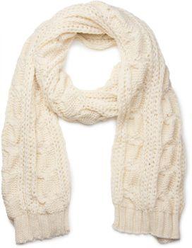 styleBREAKER Schal, Mütze und Handschuh Set, Zopfmuster Strickschal mit Bommelmütze und Handschuhe, Damen 01018208 – Bild 22