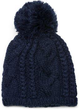styleBREAKER Schal, Mütze und Handschuh Set, Zopfmuster Strickschal mit Bommelmütze und Handschuhe, Damen 01018208 – Bild 41