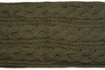 styleBREAKER Schal, Mütze und Handschuh Set, Zopfmuster Strickschal mit Bommelmütze und Handschuhe, Damen 01018208 – Bild 60