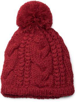 styleBREAKER Schal, Mütze und Handschuh Set, Zopfmuster Strickschal mit Bommelmütze und Handschuhe, Damen 01018208 – Bild 25