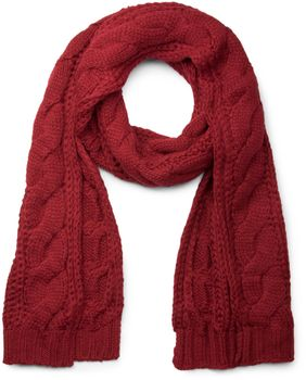 styleBREAKER Schal, Mütze und Handschuh Set, Zopfmuster Strickschal mit Bommelmütze und Handschuhe, Damen 01018208 – Bild 18