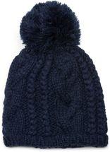 styleBREAKER Schal, Mütze und Handschuh Set, Zopfmuster Strickschal mit Bommelmütze und Handschuhe, Damen 01018208 – Bild 49