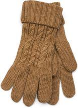 styleBREAKER Schal, Mütze und Handschuh Set, Zopfmuster Strickschal mit Bommelmütze und Handschuhe, Damen 01018208 – Bild 56