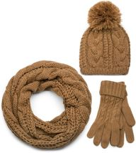 styleBREAKER scarf, cap and glove set, braid pattern knit scarf with Bobble Cap and gloves, women 01018208 – Bild 13