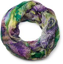 styleBREAKER Ethno Batik Muster Loop Schlauchschal, Crash and Crinkle, seidig leicht, Damen 01016087 – Bild 1
