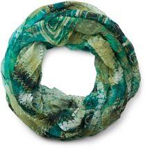 styleBREAKER Ethno Batik Muster Loop Schlauchschal, Crash and Crinkle, seidig leicht, Damen 01016087 – Bild 5