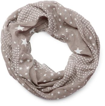 styleBREAKER star pattern loop tube scarf, silky and light, women 01016088 – Bild 17