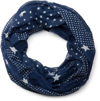 styleBREAKER star pattern loop tube scarf, silky and light, women 01016088 – Bild 1