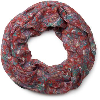 styleBREAKER tube scarf snood with an ornamental Indian-style Paisley pattern, 01016089 – Bild 5