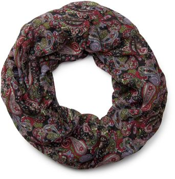 styleBREAKER tube scarf snood with an ornamental Indian-style Paisley pattern, 01016089 – Bild 1