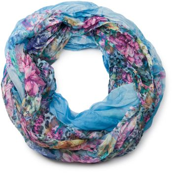 styleBREAKER flowers pattern loop tube scarf, crash and crinkle, silky and light, floral design, women 01016091 – Bild 9