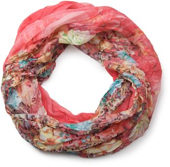 styleBREAKER flowers pattern loop tube scarf, crash and crinkle, silky and light, floral design, women 01016091 – Bild 11