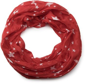 styleBREAKER silky star pattern loop tube scarf, crash and crinkle, light, unisex 01016093 – Bild 9
