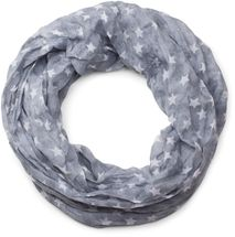 styleBREAKER silky star pattern loop tube scarf, crash and crinkle, light, unisex 01016093 – Bild 24